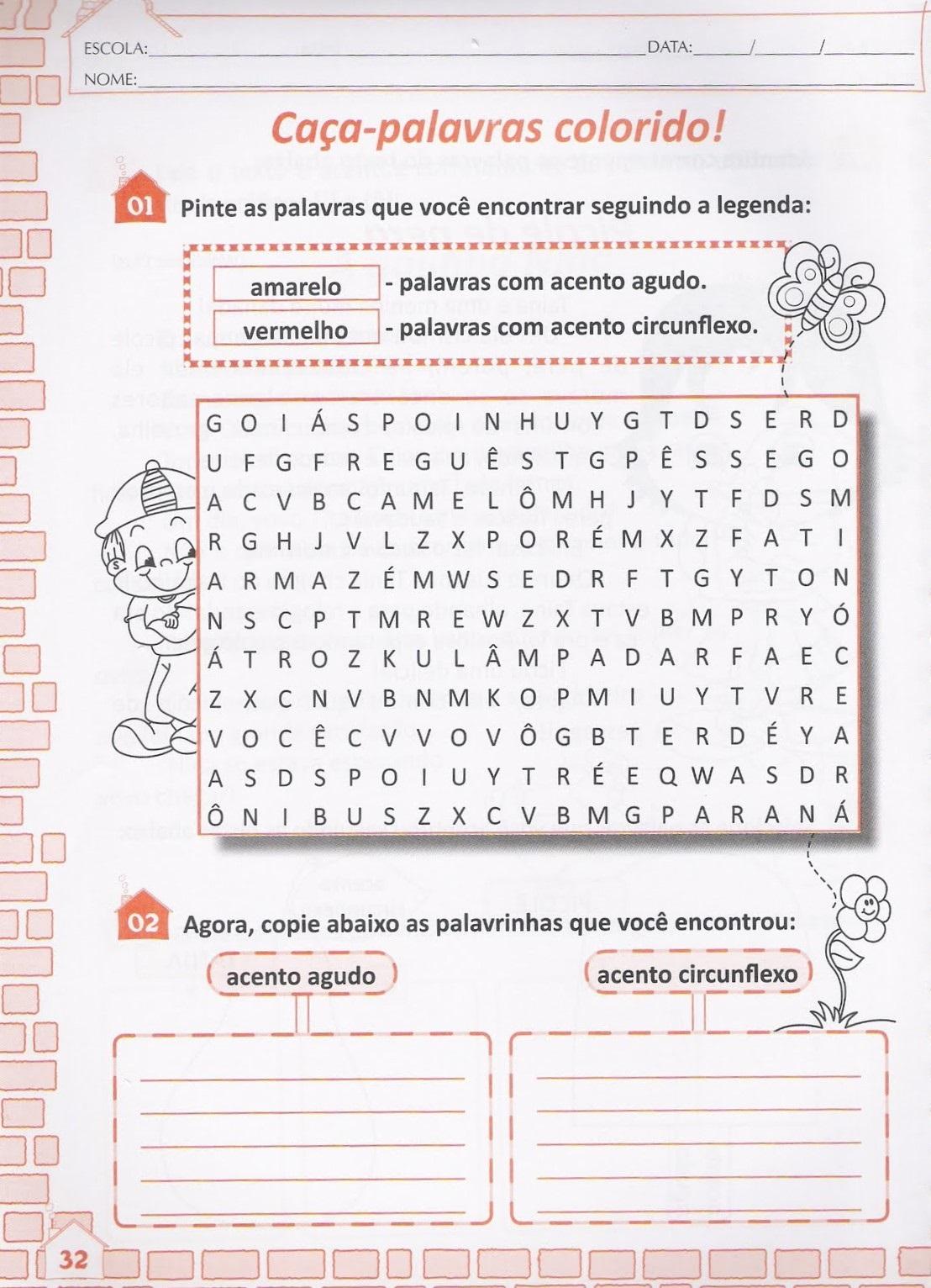 15 Atividades Com Sinais Graficos Para Imprimir Online Cursos
