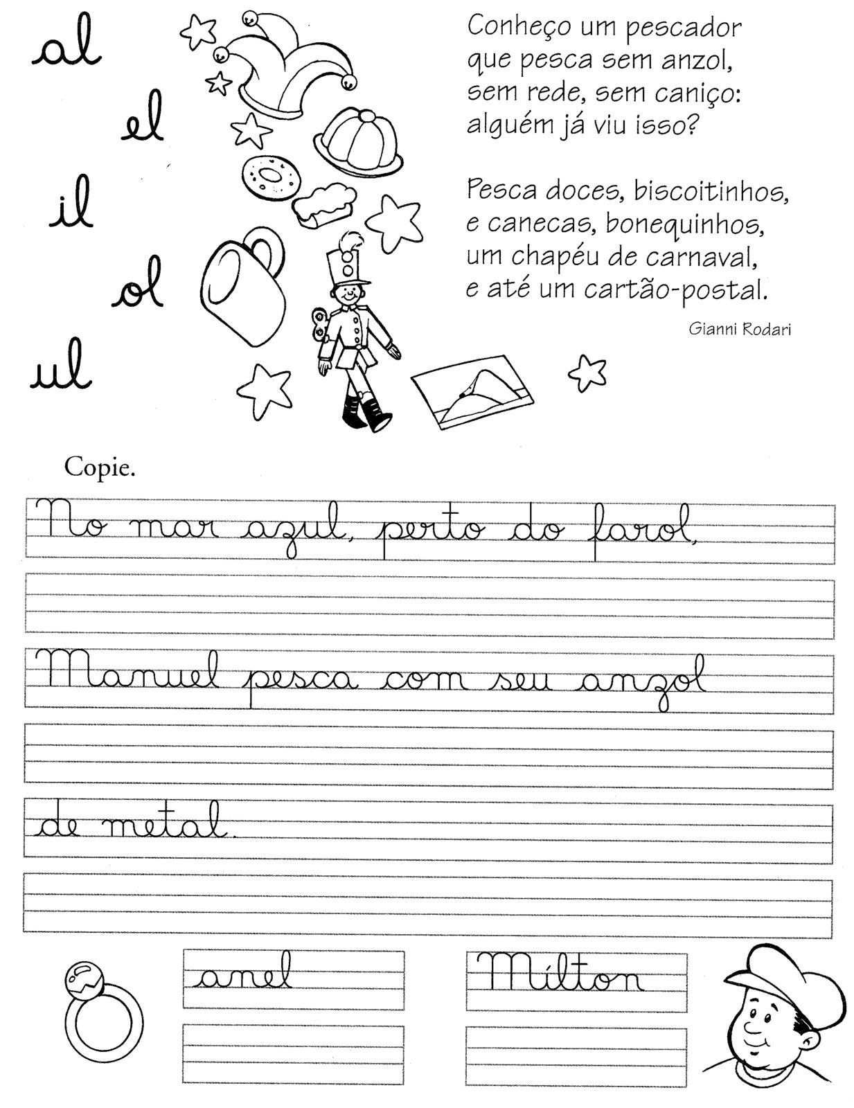 60 Atividades De Caligrafia Com Textos Frases E Palavras Para