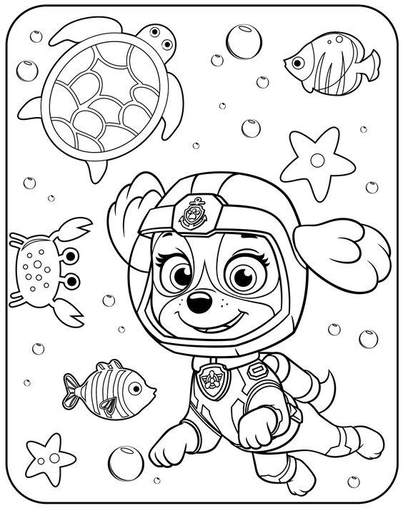 50 Desenhos Da Patrulha Canina Para Colorir E Imprimir Online