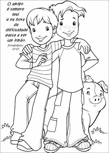 40 Desenhos Sobre Amizade Para Colorir E Imprimir Online Cursos