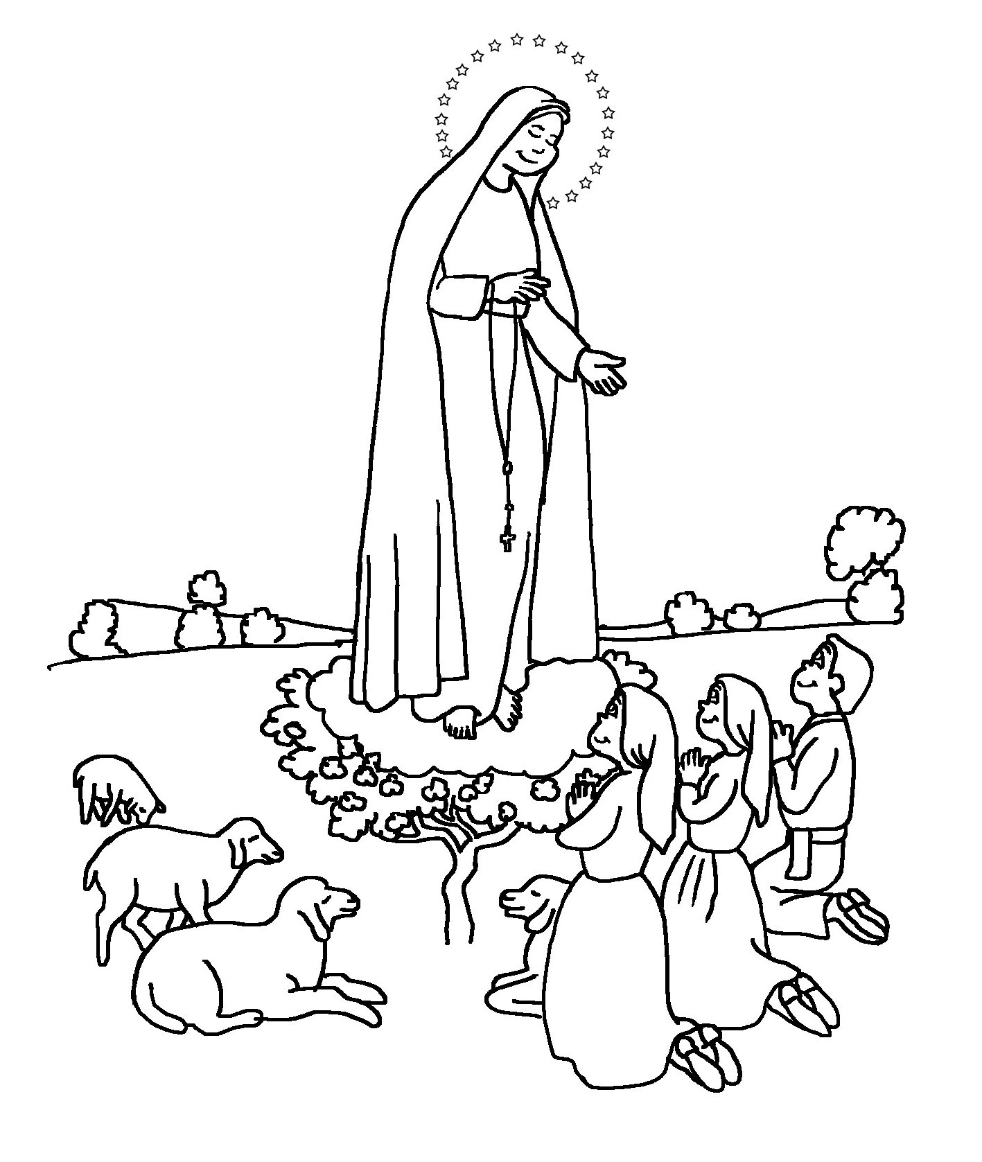 16 Desenhos Nossa Senhora De Fatima Para Colorir Online Cursos