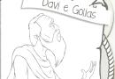 Davi e Golias História Bíblica com 8 Desenhos para Colorir