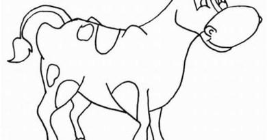 14 Desenhos de Vaca para Colorir e Imprimir
