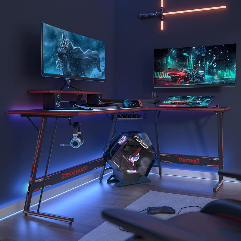 DESTINO L Shaped Gaming Desk Computer Corner Desk