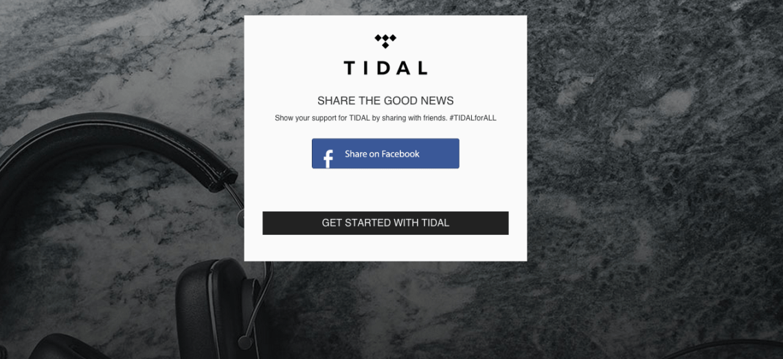Tidal Join Now Page