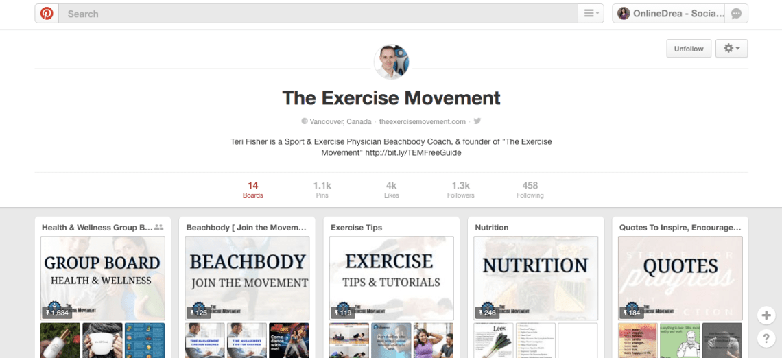 The Exercise Movement Pinterest