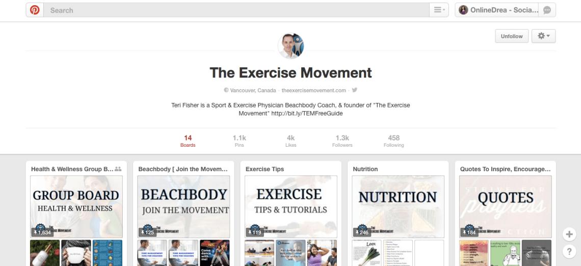 The Exercise Movement Pinterest