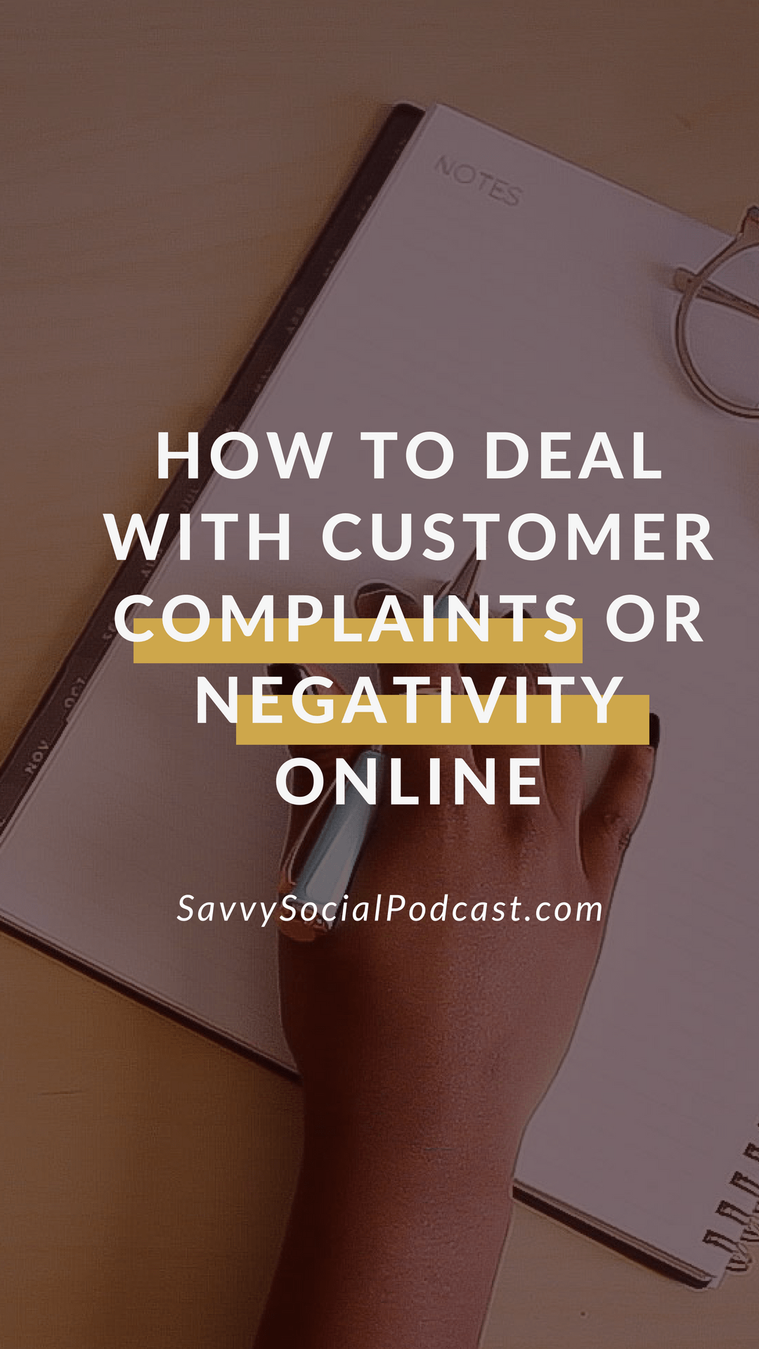 Did you get a customer complaint or a negative comment on your social media account? Listen in to learn how to navigate this sensitive situation.