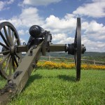Cannon on the field - one of Maryland's historical attractions