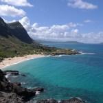 the beach in Oahu