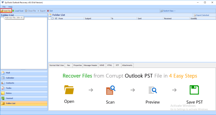 How to Repair a PST File of POP3 Account in Outlook 5