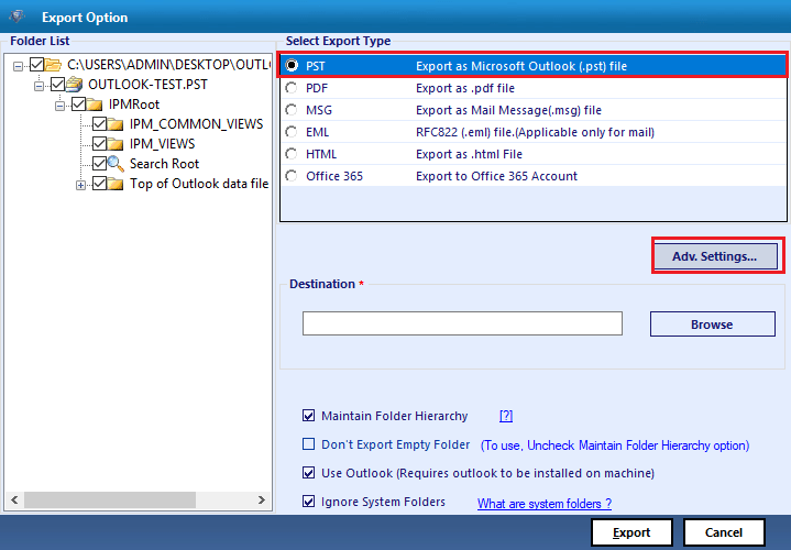 How to Repair a PST File of POP3 Account in Outlook 9
