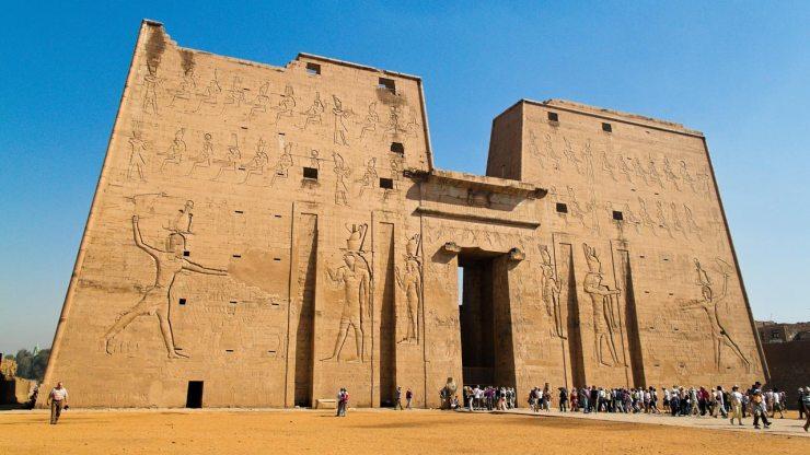 Edfu Temple At Aswan