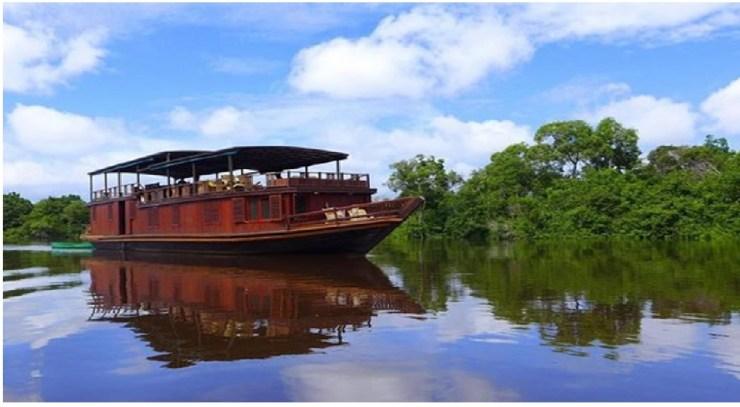Night river cruise in Borneo