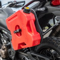How you can carry extra fuel on a motorcycle?