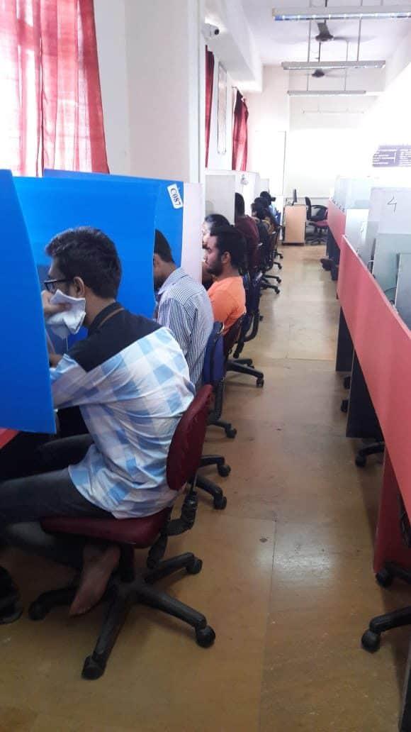 Online exam Activity at Exam center