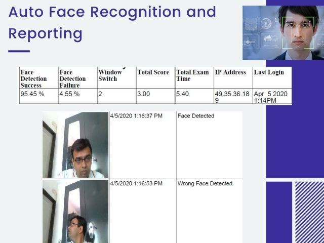 Facial Recognition during Online Exam