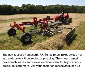 Massey Ferguson Introduces Three RK Series Rotary Rakes