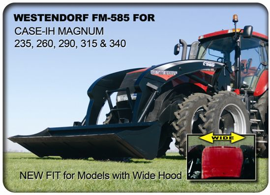 Loader Fit for Magnum Series Tractors with Wide Hood | OnlineFarmer