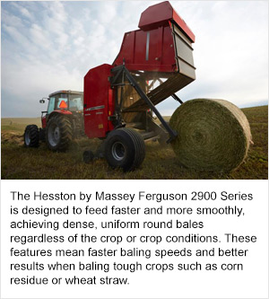 Hesston by Massey Ferguson 2900 Series Round Balers Improve Baling Efficiency