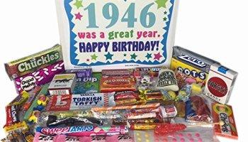 1946 70th Birthday Gift Basket Box Retro Nostalgic Candy From Childhood
