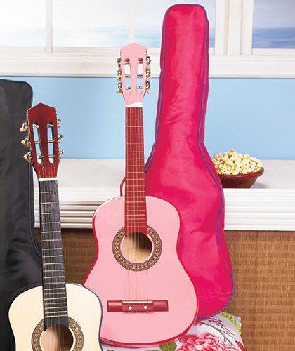 51Jr9QwGzyL - Kids Wood Guitar W/Case-Pink