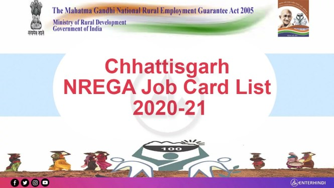 CG nrega job card 2020