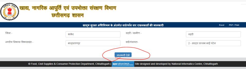 Chhattisgarh Ration Card 2020