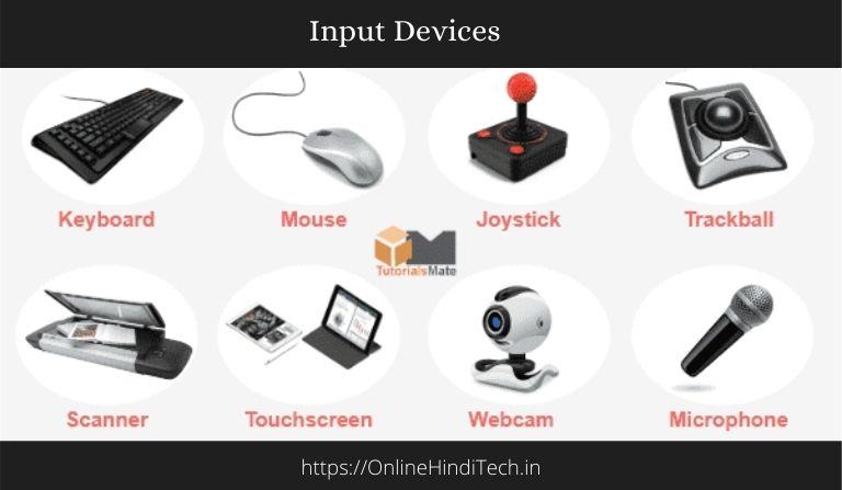 Computer Input Device in Hindi