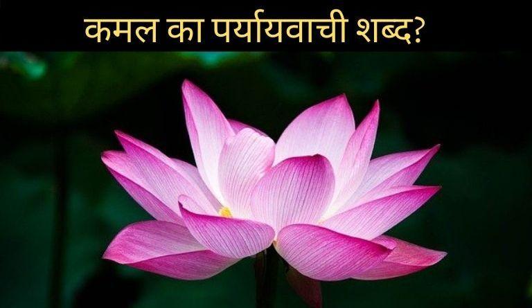 कमल का पर्यायवाची शब्द?   Kamal Ka Paryayvachi Shabd Kya Hai