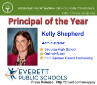 Kelly Shepherd OnlineHS.net Administrator Named Region's Principal of the Year