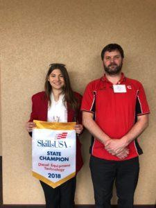 McKenzie Budrow 2018 Skills USA Diesel Technician State Champion