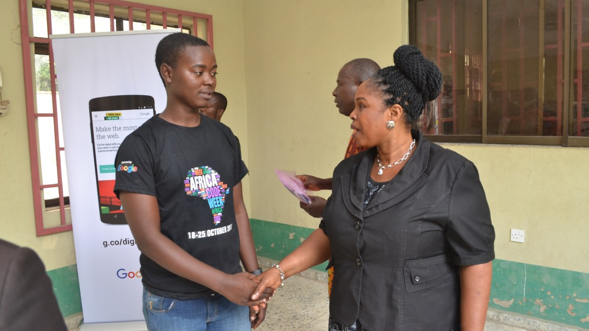 One of the best moments of #AfricaCodeWeek 2017 for us at Online Hub Educational Services in #OgunState #Nigeria today!