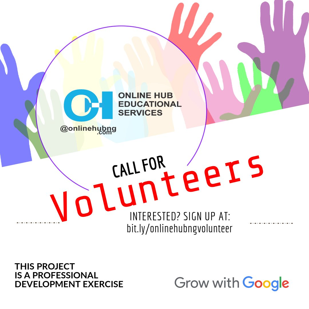 Online Hub Educational Services, Africa Code Week, CS Professional Development 2018: Call for Volunteers!