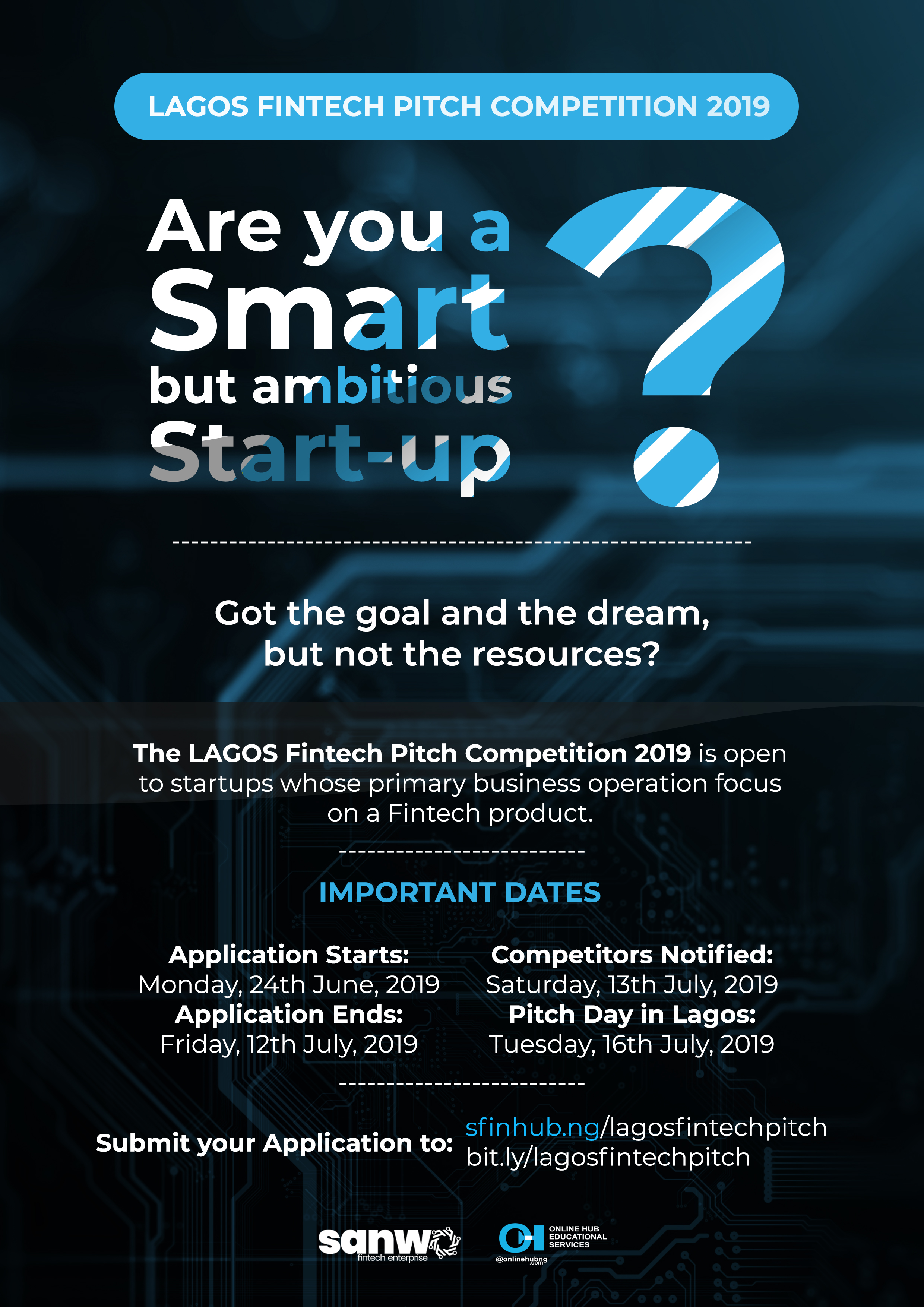 Call For Lagos FinTech Pitch Competition – SFIN Hub Nigeria