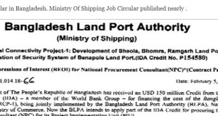 Ministry Of Shipping Job Circular in Bangladesh