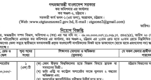 income tax job circular 2018 bd