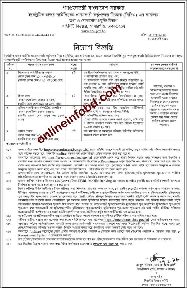 Ministry Of Information Technology Job Circular 2018