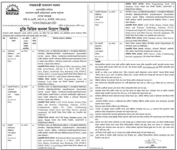Office Of the prime minister Job Circular 2018