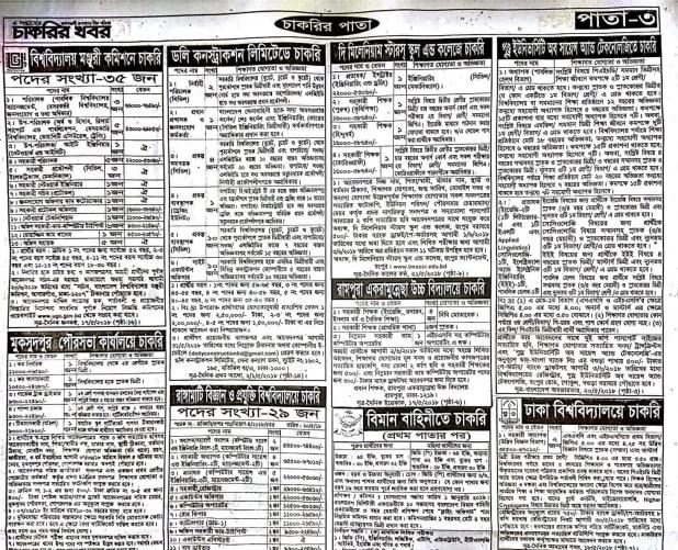 Weekly Jobs Newspaper Circular 25 May 2018 Download PDF 3