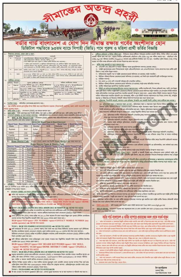 bangladesh bgb circular 2018