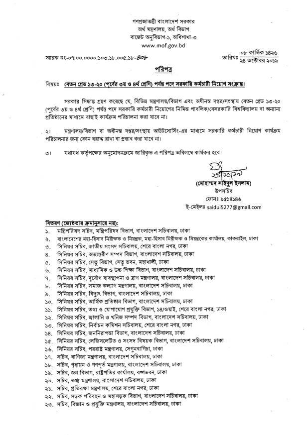 BD Jobs Government Jobs Circular Notice আট গ্রেডের নিয়োগ প্রক্রিয়া সরকারি চাকরির রিয়োগ বিধান পরিবর্তন
