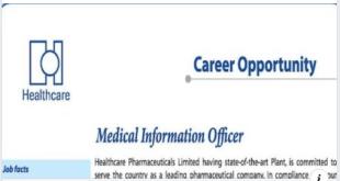 renata pharmaceutical job circular 2020