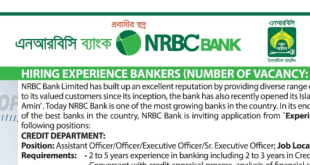 NRB Commercial Bank Ltd. Job Circular 2020