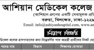Ashiyan Group Job Circular 2020