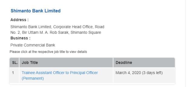 Shimanto Bank Job Circular 2020