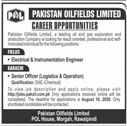 Latest Pakistan Oilfields Ltd Engineering Posts Rawalpindi 2020