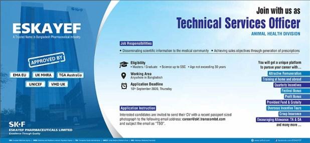 Eskayef Pharmaceuticals Ltd Job Circular 2020