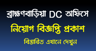 Brahmanbaria DC Office Job Circular 2020
