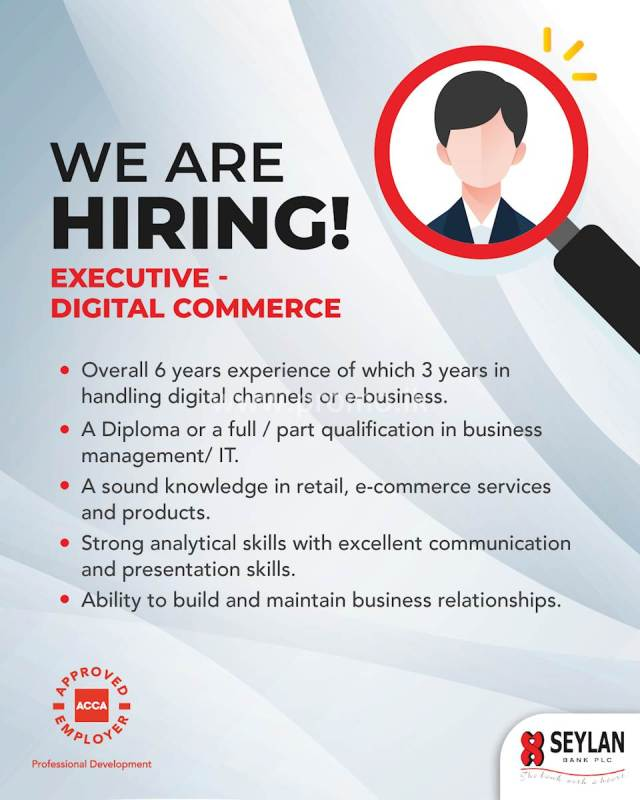 Executive Digital Commerce: Seylan Bank PLC